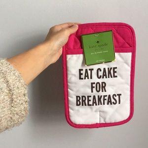 """Kate Spade """"Eat Cake For Breakfast"""" Oven Mitt"""